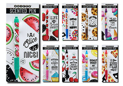 £4.99 • Buy Snifty Scented Pens - Chocolate, Bubblegum, Pizza, Watermelon, Strawberry & More