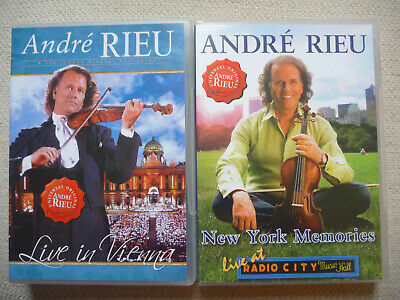 Andre Rieu - New York Memories & Live In Vienna 2xDVDs Mint Discs • 6.99£