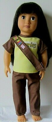 BROWNIE UNIFORM To Fit 18  DOLL ..AMERICAN GIRL.OUR GENERATION Or Similar. • 12.99£