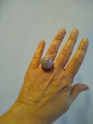 $ CDN22.22 • Buy Lia Sophia Signed Kiam Family Some Cocktail Ring Silver Tone Approximate Size 9