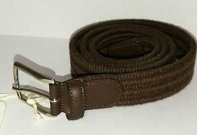 Andersons Woven Brown Fabric Belt Silver Buckle Handmade 100 • 44.99£