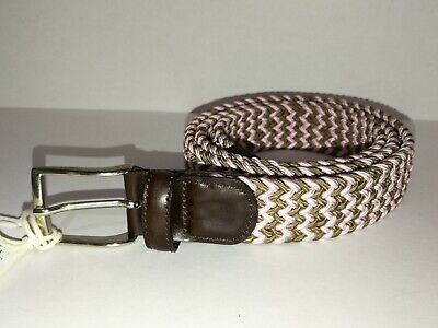 Andersons Woven Multi Colour Brown Pink Leather Belt Silver Buckle Handmade 100 • 44.99£