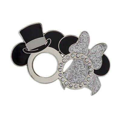 £8.95 • Buy Disney Pin Mickey And Minnie Mouse Wedding Ring Pin