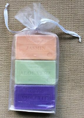 🧼SAVON DE MARSEILLE. 3 Soaps In Gauze Bag. • 4.50£