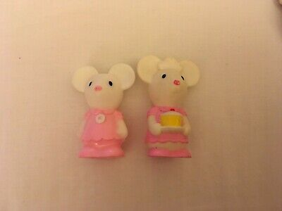 2 Mice Figures For Elc Happyland Mouse Cafe • 4.25£