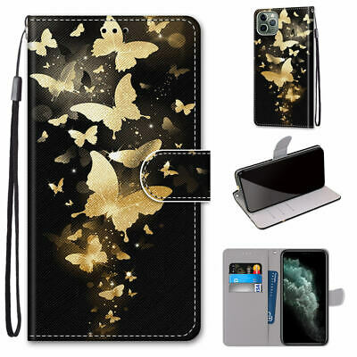$ CDN6.52 • Buy Golden Swarm Butterfly Mystic Hot Flip Wallet Stand Case Cover For Various Phone
