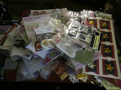 LARGE BUNDLE OF EMBELLISHMENTS CRAFTY BITZ, CREATE & CRAFT, ETC – 100's OF PIECE • 5.50£