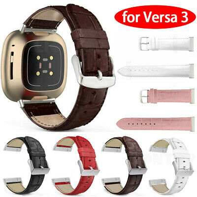 $ CDN7.27 • Buy Genuine Leather Watch Band Strap Replacement Bracelet For Fitbit Versa3 / Sense