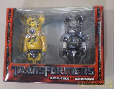 $165.22 • Buy Be @ Rbrick Bearbrick × Transformers Bumblebee & Barricade