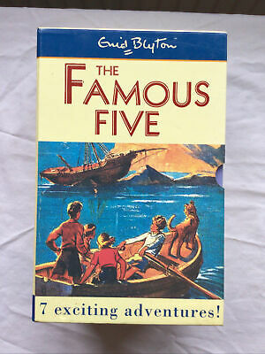 Enid Blyton The Famous Five 7 Exciting Adventures! Paperback Box Set • 7.99£