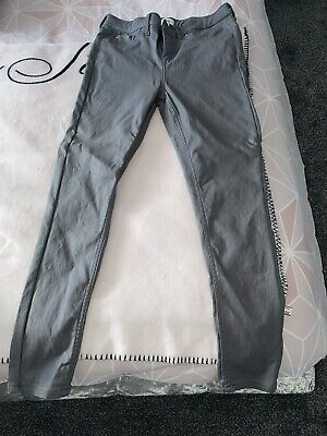 River Island Molly Grey Leather Look Leggings Size 10 • 20£