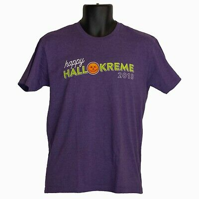 $11.01 • Buy Krispy Kreme Happy Hallokreme 2018 Mens T-Shirt Purple Size S Small Halloween