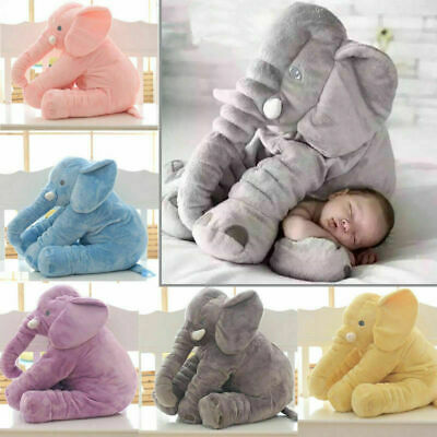 16 /24 Large Soft Pillow Plush Stuffed Elephant Animal Toy Teddy Bear Kids Play • 16.99£