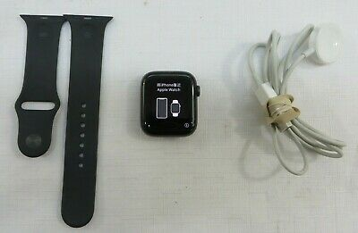 $ CDN327.21 • Buy Apple Watch Series 5 44mm Space Gray Case Black Band  A2093