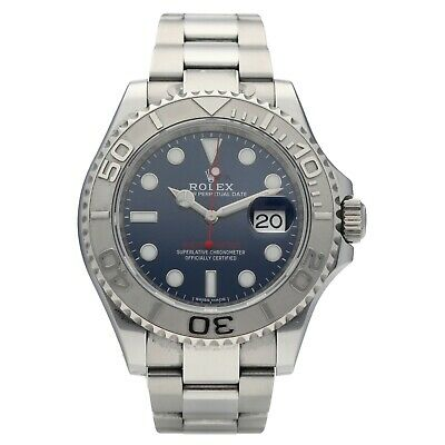 $ CDN15439.55 • Buy Rolex 116622 Yachtmaster Blue Dial Platinum Steel Automatic Mens Watch 2018