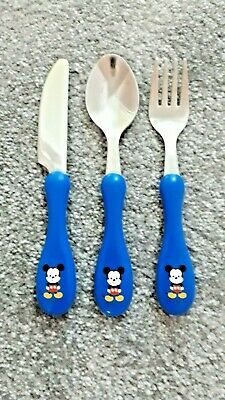 Children's First Cutlery Set, Mickey Mouse Logo • 2.75£