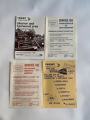 Trent, Heanor & Eastwood Bus Timetable 1981 With Travel Leaflets • 0.99£