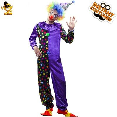 $ CDN36.39 • Buy Adult Men Circus Funny Clown Costume Halloween Party Funny Clown Costumes