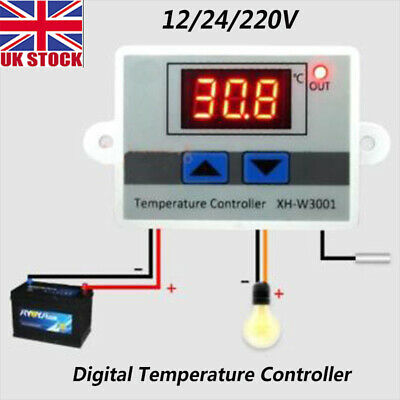 Incubator Digital Temperature Controller Thermostat Control With Switch+Probe UK • 6.47£