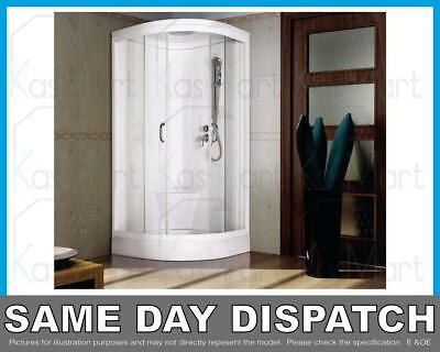 £499 • Buy 900x900 Hydra Shower Cubicle Enclosure Tray No Steam Mixer All In 1 Quadrant NEW