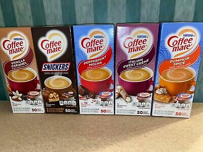£16 • Buy Coffee Mate Creamer Creamers Box Of 50 RARE USA Flavours - Choose Your Own