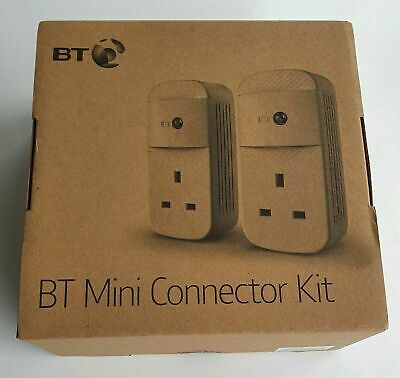NEW BT MINI CONNECTOR  KIT 087372 Twin Powerline 1GB  Plugs - FREE DELIVERY • 64.50£