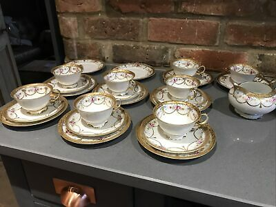 Antique Noritake China Part Tea Set 1920s Gold  Gilt Roses Peonys 25 Pieces Vgc • 300£