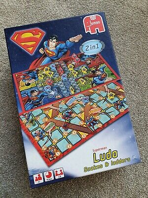 New Superman Ludo Game Snakes & Ladders Ex Condition Ideal Gift • 6£