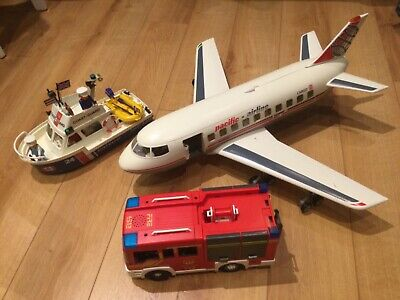 £45 • Buy Playmobil Aircraft Model 4310, Fire Engine , And Life Boat