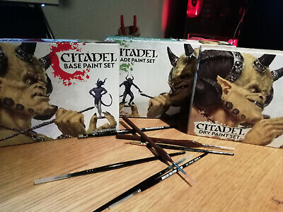 Games Workshop Citadel Paint Sets BASE, SHADE, And DRY • 25£