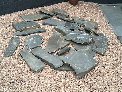 Several Pieces Slate, Various Sizes For Garden Water Features, Rockeries Etc • 22£