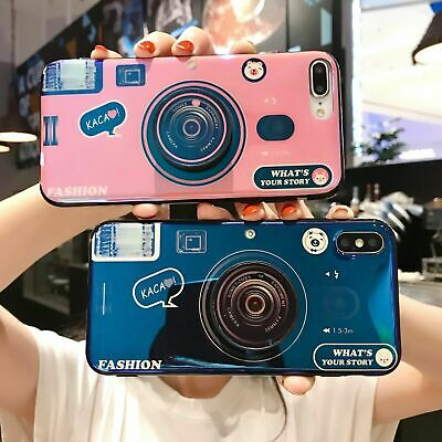 AU5.04 • Buy Fashion Blu-ray Retro Camera Girl Hot Mobile Case Cover Skins For Various Phone