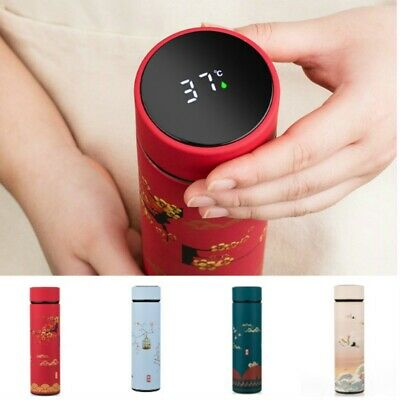 AU27.78 • Buy Chinese Insulated Bottle Mug Thermos Stainless Steel Cup Temperature Display