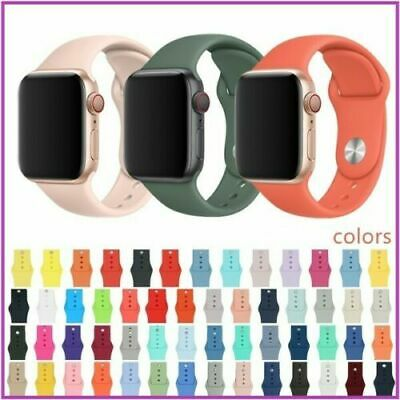 $ CDN3.99 • Buy For Apple Watch Series 5/4/3/2/1 38/42 Replacement Silicone Wrist Sport Band