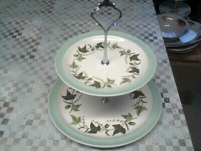 Wedgewood Hereford 2 Tier Cake/sandwich Stand,for Dinner/tea Set Excellent Condi • 10£