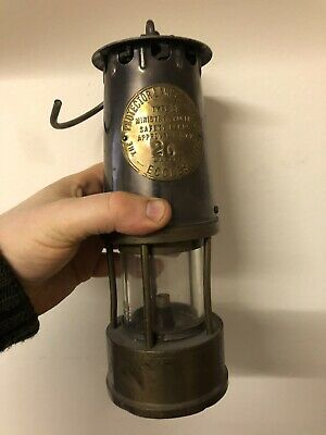 Eccles Protector Brass Miners Lamp Type: SL B/120 Vintage, Antique 26 Makers • 50£