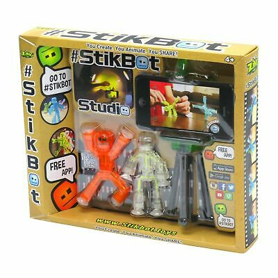 Zing STIKBOT STUDIO Zanimation V3 Toy Figures #StikBot Playset • 10.99£