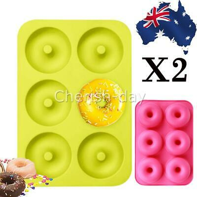 AU9.99 • Buy 2x Silicone Donut Muffin Chocolate Cake Cookie Cupcake Baking Mold Mould Tray