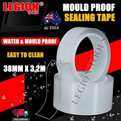 AU11.99 • Buy Waterproof Mould Proof Tape Kitchen Bathroom Wall Sealing Tape Adhesive Clear