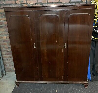 AU150 • Buy Antique 3-tier Wardrobe, A Beautiful Piece Of Furniture