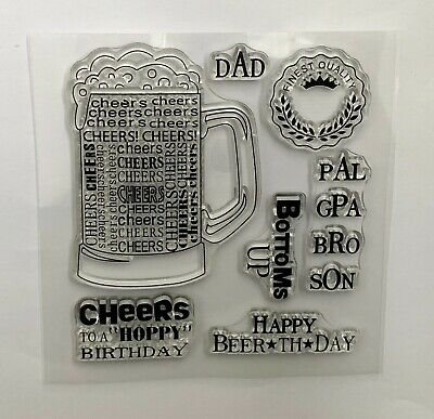 £3.99 • Buy Beers & Cheers Clear Stamps - Pint Of Beer, Sentiments - Father's Day