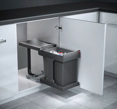 £89.99 • Buy Hailo Solo Swing Out Kitchen Waste Bin For Under Sink Units Built In Pull Out