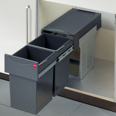£112.99 • Buy Hailo Tandem 30 L Pull Out Waste Bin For 300mm Hinged Door Kitchen Units 2x 15 L