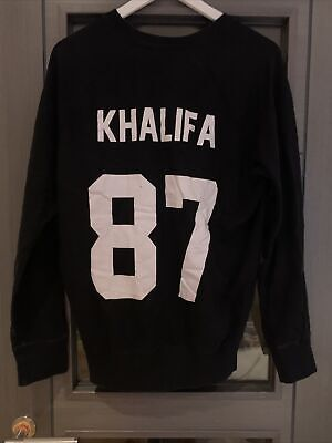 Eleven Paris Black Sweatshirt Size Small Black Wiz Khalifa Print On Back Used • 4.99£