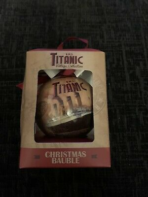 Titanic White Star Line Christmas Bauble • 7£