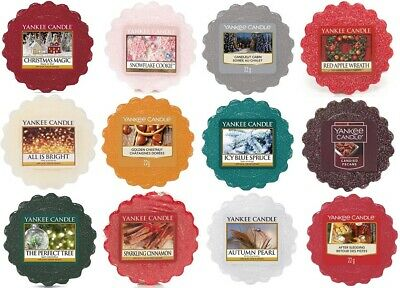 YANKEE CANDLE WAX MELTS TARTS SET Of 6 WINTER FESTIVE INSPIRED SCENTED FRAGRANCE • 9.49£