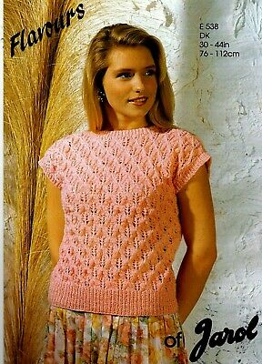 Jarol Flavours DK KNITTING PATTERN, Women Sleeveless TOP • 0.90£