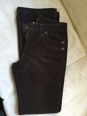 Ladies Brown Cord Jeans Size 10 Long Length • 2.20£