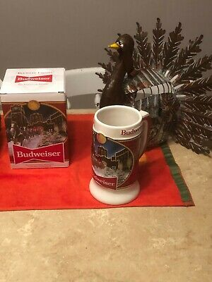 $ CDN24 • Buy 2020 Budweiser Holiday Stein Beer Mug From Annual Christmas Series BRAND NEW!!