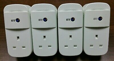 4 X BT Mini Connectors 1000Mbps 1GB Powerline Adapters Homeplugs  • 54.50£